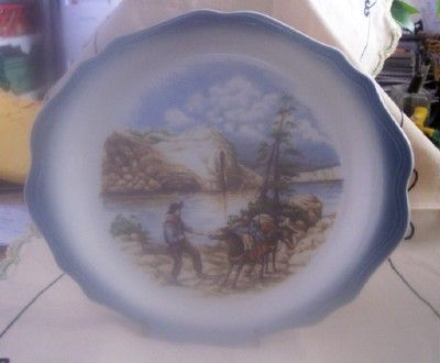 Vintage SYRACUSE China Plate Western Theme Restaurant Ware Mint!