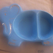 ADORABLE Vintage Ceramic Child's Feeding Dish Elephant Motif Mint!