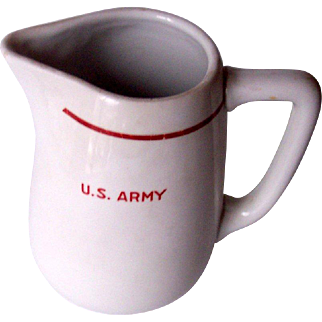 Vintage Pitcher U.S. Army  Mint Condition!
