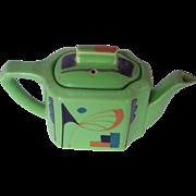 Vintage Ceramic Tea Pot Art Deco Motif Marked MADE IN JAPAN Mint!