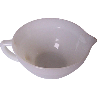FIRE KING Vintage Batter Bowl White