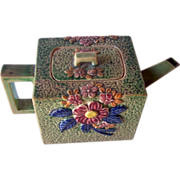 Vintage Ceramic Teapot Floral Motif Marked Hand Painted JAPAN