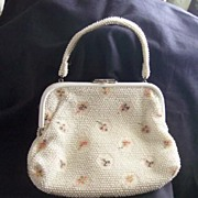 GORGEOUS Vintage PURSE Vintage Plastic Beads with Chrome Closure