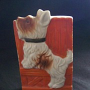 CHARMING Vintage WALL POCKET Scottie Dog Marked Japan Mint Condition!