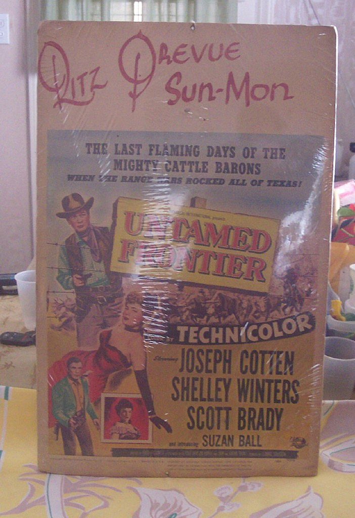 FABULOUS Vintage MOVIE CARD 1952 Untamed Frontier Western Movie