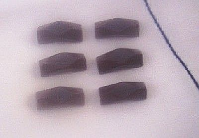Fabulous Vintage BAKELITE Buttons Set of 6 Faceted Chocolate Brown Bakelite