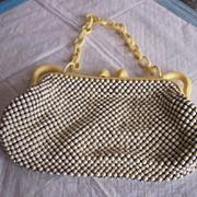 Vintage WHITING AND DAVIS Purse Alumesh Handbag Mint!