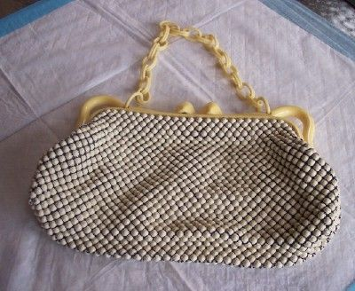 Vintage WHITING AND DAVIS Purse Alumesh Handbag Mint!