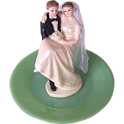 Vintage Wedding Cake Topper Circa 1950's Mint!