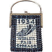 Vintage Chicago Worlds Fair 1934 Mesh Purse