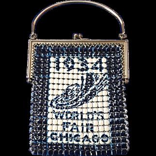 Vintage Chicago Worlds Fair 1934 Mesh Purse