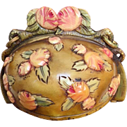 French Celluloid Dome Frame Colorful Flowers