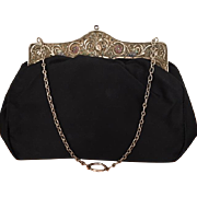Antique Evening Bag  German Gemstone  Purse