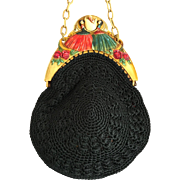 Art Deco French Celluloid Ladies Baby Egg Purse