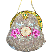 Elegant Vintage Beaded Jeweled Purse