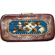 ON SALE! Antique Victorian Beaded Cigar Case Etui German Beadwork