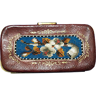 Antique Victorian Beaded Cigar Case Etui German Beadwork