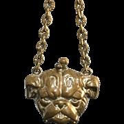 Antique Child's Bulldog Coin Purse