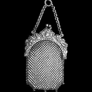 Art Nouveau Lady Chatelaine Mesh Coin Purse