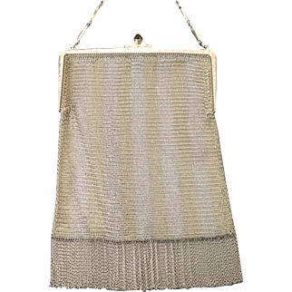 Whiting and Davis 1/10 14K Sterling 1920's Mesh Purse