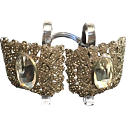 Art Deco Rhinestone Shoe Clips Buckles