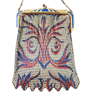 Colorful Whiting and Davis  Wild Deco Design Enamel Mesh Purse