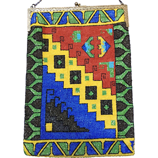 Screaming Deco Colorful Beaded Purse