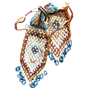 Colorful Beaded Miser Purse Bag
