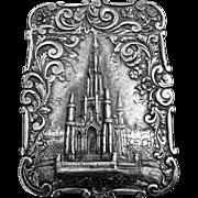 Victorian Silver Castle Top Calling Card Case