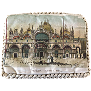 Antique Souvenir Venice Scenic Pocketbook Purse