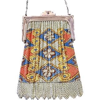 Whiting and Davis El-Sah Mesh Purse Deco