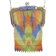 Whiting and Davis Art Deco Dresden Mesh Purse
