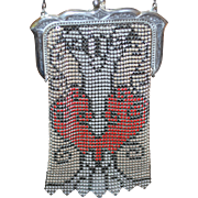 Marked Whiting and Davis Deco Beadlite Mesh Purse