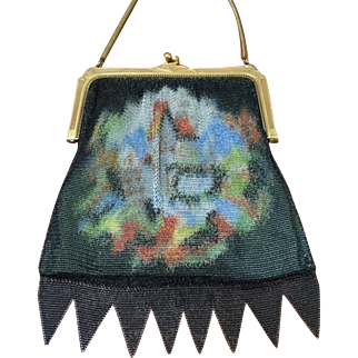 Whiting and Davis Dresden Mesh Cabin in the Woods Purse