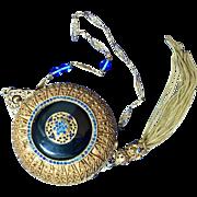 Marked Trinity Plate Jeweled Ormolu Vanity Dance Purse