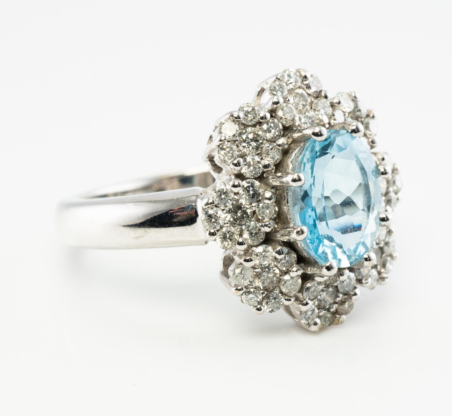 Estate Designer Signed Jewelry 14k White Gold Effy 1 1ct