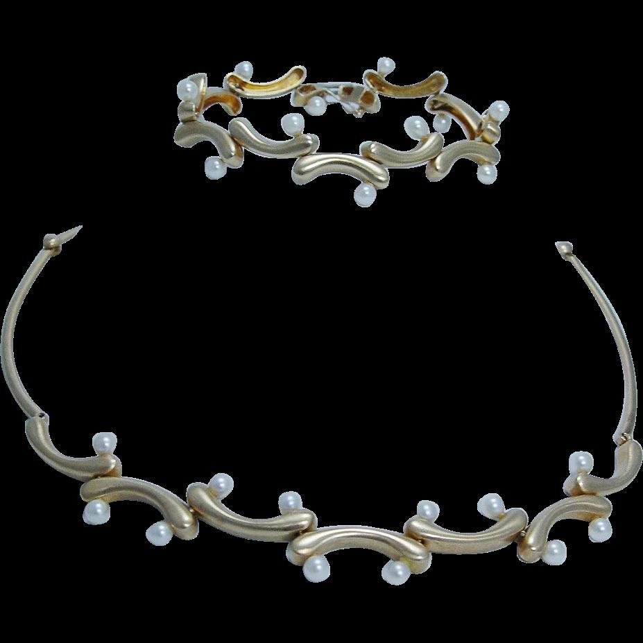 Designer Jewelry Akiyo Matsuoka Art to Wear 18K Gold Akoya Pearl
