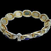 Designer Signed Jewelry Tiffany&Co 18K Yellow Gold Lapis Lazuli Bracelet 33.1gr