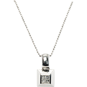 Designer Signed Jewelry Spark 950 Platinum Diamond Pendant with 14K Gold Chain