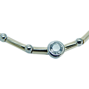 Estate Jewelry Signed D.J 18K Yellow Gold VVS2/GH .50ct Necklace Choker 25.4 gr