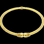 Estate Greece 18K Yellow Gold Etruscan Byzantium Necklace Choker 38.2gr