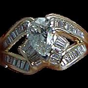 Estate UGEM 18K Yellow Gold 1.96ct Diamond Engagement Ring Jewelry