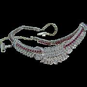Royal Vintage 14K Yellow Gold 5.60ct Diamonds 2.88ct Rubies Choker Necklace
