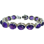 Estate 14K Yellow Gold 32.06 ct Amethyst Cabochons Bracelet Necklace is available to make a set