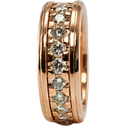 14K Rose Gold Novell 1.84ct Diamonds Eternity Band Ring Wedding Anniversary