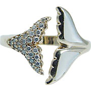 Kabana 14K Yellow Gold Mother of Pearl Diamonds Whale Tail Ring