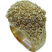 Carrera y Carrera Baguette of Roses 18K Yellow Gold Cocktail Ring 26.8gr