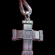 Di Modolo Milano 18K White Gold Diamonds Cross Pendant Necklace with Chain