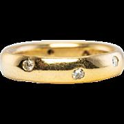 Estate 18K Yellow Gold .24ct Diamonds Diamond Eternity Wedding Band Ring