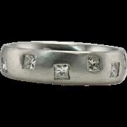 18K White Gold .96ct square Diamonds Eternity Band Ring Anniversary Wedding